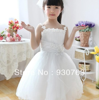 Free shipping 2013 Children's performance clothing Children's wedding dress flower girl dresses tutu dress princess dress