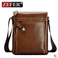 Free shipping Hot Wholesale&Retail 2013 New brand leather messenger bag,Black/Khaki mens shoulder bag,cross body bag