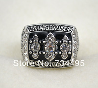 Free shipping! replica fashion 1983 Los Angeles Raiders Super Bowl XVIII Football World Championship Ring as gift.
