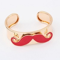 Free Shipping 10pcs Fashion Jewelry 2013 Colorful Multicolor Sexy Moustache Beard ALLOY  Wristband Bracelet