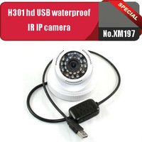 Free shipping,H301 Waterproof infrared type external card USB high-definition IP cameras with 1280*720 HD video resolution