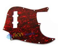 1 Red Tortoise Shell Jazz Bass JB Style JB Pickguard 3Ply 10Hole