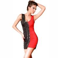 Summer new arrival 2013 sleeveless sexy crystal racerback slim hip slim one-piece dress 2374