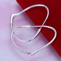 Free Shipping Wholesale 925 Silver Earring Fashion Sterling Silver Jewelry Heart-shaped Earrings SMTE028