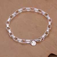 Free Shipping Wholesale Sterling 925 silver bracelet, 925 silver fashion jewelry Big Rectangular Bracelet SMTH203