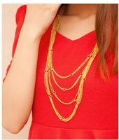 Fashion jewelry bold design multi-layers waterfall tassel The Chains necklace bijouterie New 2013