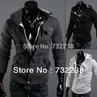 HOT Fashion Men's Hooded Peacoat Wool Blend Casual Coats Jackets M L XL XXL XXXL