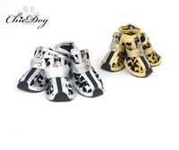 Free Shipping New Gold zebra print dog shoes teddy vip bo shoes pet shoes dog shoes
