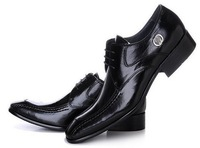 Ffree shipping !Men Black /Brown Genuine Leather Shoes Fashion Oxford Dress Shoes Mens casual flats size 40-46