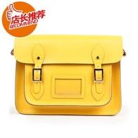 shoulder bag genuine leather bag vintage handbag cowhide women's 12-square-meter cross-body handbag  Free Shipping