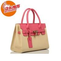 Fashion vintage  fashion star style portable women's handbag genuine leather bag platinum cross-body shoulder bag leather