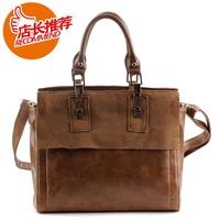 vintage genuine leather handbag fashion bag one shoulder cross-body women's bags  Free Shipping