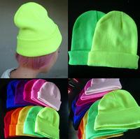 men and women of fluorescent color line cap hat knitted cap GD hip-hop MaoXianMao set of head cap 400pcs/lot