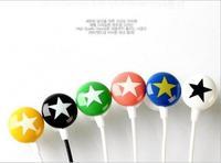 Colourful stars stereo headphone,chocolate earphone MP3 mobile phone earphonecolors ear drops series fashion mix-style