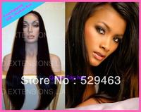 100% Peruvian virgin human Hair Cheap 4*4Glueless Silk top full lace wigs for black women Freeshipping by DHL/Fedex