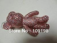 promotion multicolour diamond plastic cute bear doll