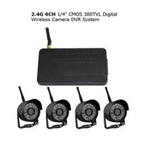 CCTV Home 2.4G 4CH 1/4 CMOS 380TVL Digital Wireless Camera DVR System
