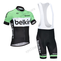 Pro team bicycle clothes for BELKIN coldeportes 2013 short sleeve bib shorts set