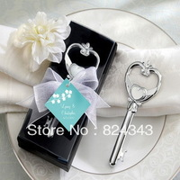 """Key To My Heart"" Victorian Style Chrome Bottle Opener Wedding Favors Wine Bottle Opener+50pcs/lot+FREE SHIPPING"