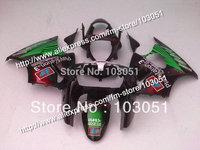 Body work for 2000 2001 2002 kawasaki ZX6R fairing set Ninja ZX 6R 00 01 02 ZX-6R fairings green in glossy black SX91