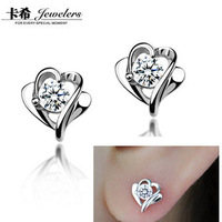 new 2013  girls  accessories Stud earring gift 925 pure silver jewelry 925 pure silver stud earring female earrings women