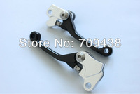 Pivot Billet CNC Brake Clutch Lever Levers For KLX450R KLX450 KLX 450 R 450R 08-09 2008 2009 BLACK