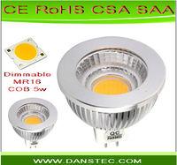 Free shipping dimmable DC12V mr16 cob warm white 10pcs/lot
