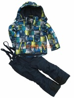Free shipping Child ski suit set outdoor jacket outerwear trousers cotton-padded jacket wadded jacket 2 - 40