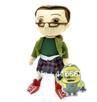 cute doll Marg silk glasses girl  Despicable Me Stuffed Animals & Plush Toys  22 cm good gift for christmas and new years