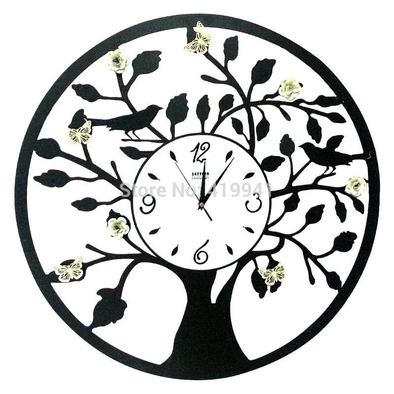Achetez en gros papillon en fer forg en ligne des for Horloge murale fer forge