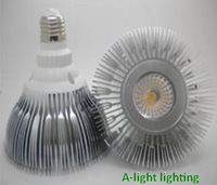 Free shipping-599 12W COB E27 PAR38 LED warm white Spotlight  Dimmable 850LM aluminum CE ROHS certification