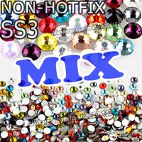 SS3 1.3-1.4mm Mix Colors Nail Art Rhinestones 1440pcs/bag Glass Strass Non HotFix FlatBack Crystal DIY Nails Decoration Glitters