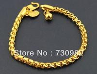 9k 14k  18k  yellow glod  women bracelet  fashion jewelry   beautiful hand wearing party free shipping