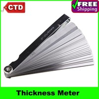 0.02 to 1mm 32 Blade Thickness Gap Metric Filler Feeler Gauge Measure Tool,