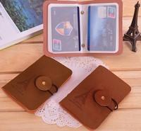 New fashion Kroea velour leather plus PVC Classic Retro Portable multi bank credit card bag for men and women