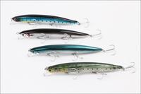Long Minnow Hard Fishing Lures 130mm 23g,2# VMC Treble Hooks,plastic lures,8pcs/lot,Free shipping