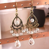 0421 Wholesale!  Fashion Jewelry vintage drop earrings clear rhinestone crystals Women's earrings