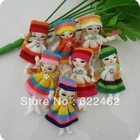 100 Pcs Cute Pattern dress girl small doll craft/appliques DIY handicraft A0115