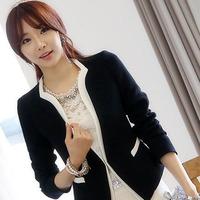 High Quality Plus Size XXL Fashion Women's White And Black Work Wear Blazer Jackets Ladies Slim Elegant Business Suit Outerwear