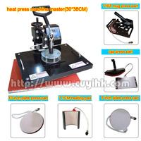 6in1 Combo machine heat press mchine Combo heat transfer machine for mug hat T-shirt and plate