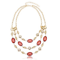 Multi-layer beaded fashion necklace female accessories fashion design long necklace
