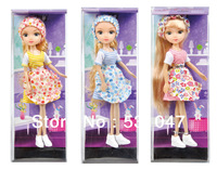 2013 Newest design Lovely doll 3 piece a lot with PVC box for children and adult gift Free shipping