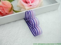 Free shipping 15MM Wide 100yards/Roll Colorful Stripe Sheer Organza Ribbon ,Ribbons for Bows, Wedding Decoration