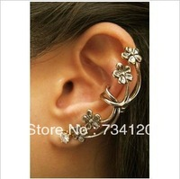 ES010 Min.order is $10 (mix order) New Design Wholesale Fashion The plum blossom Ear Cuff Earring clip Jewelry Free shipping