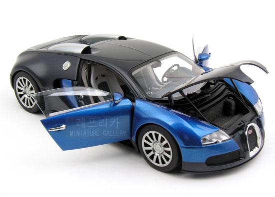 brand new autoart 1 18 scale bugatti eb 16 4 veyron show car black blue dieca. Black Bedroom Furniture Sets. Home Design Ideas