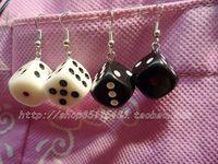 Small dice earrings