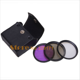 Free shipping+tracking number 3PCS 67mm CPL UV FLD filter kit for  500D 550D /Rebel T3i T2i T1i