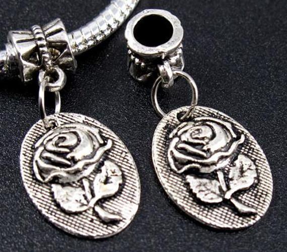 5pcs SILVER MURANO BEAD LAMPWORK Fit European Charm Bracelet 067