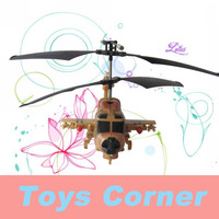 FreeShipping Portable Packaging DONGHUANG(DH826B) 4ch Alloy RC Helicopter with Gyro and Missiles