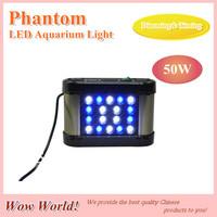 Phantom LED aquarium light 50W, remote controller dimming& timing, blue: whtie =1:1, for coal reef, customizable